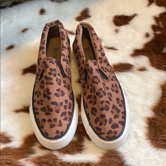 Restricted Shoes | Brown Leopard Print